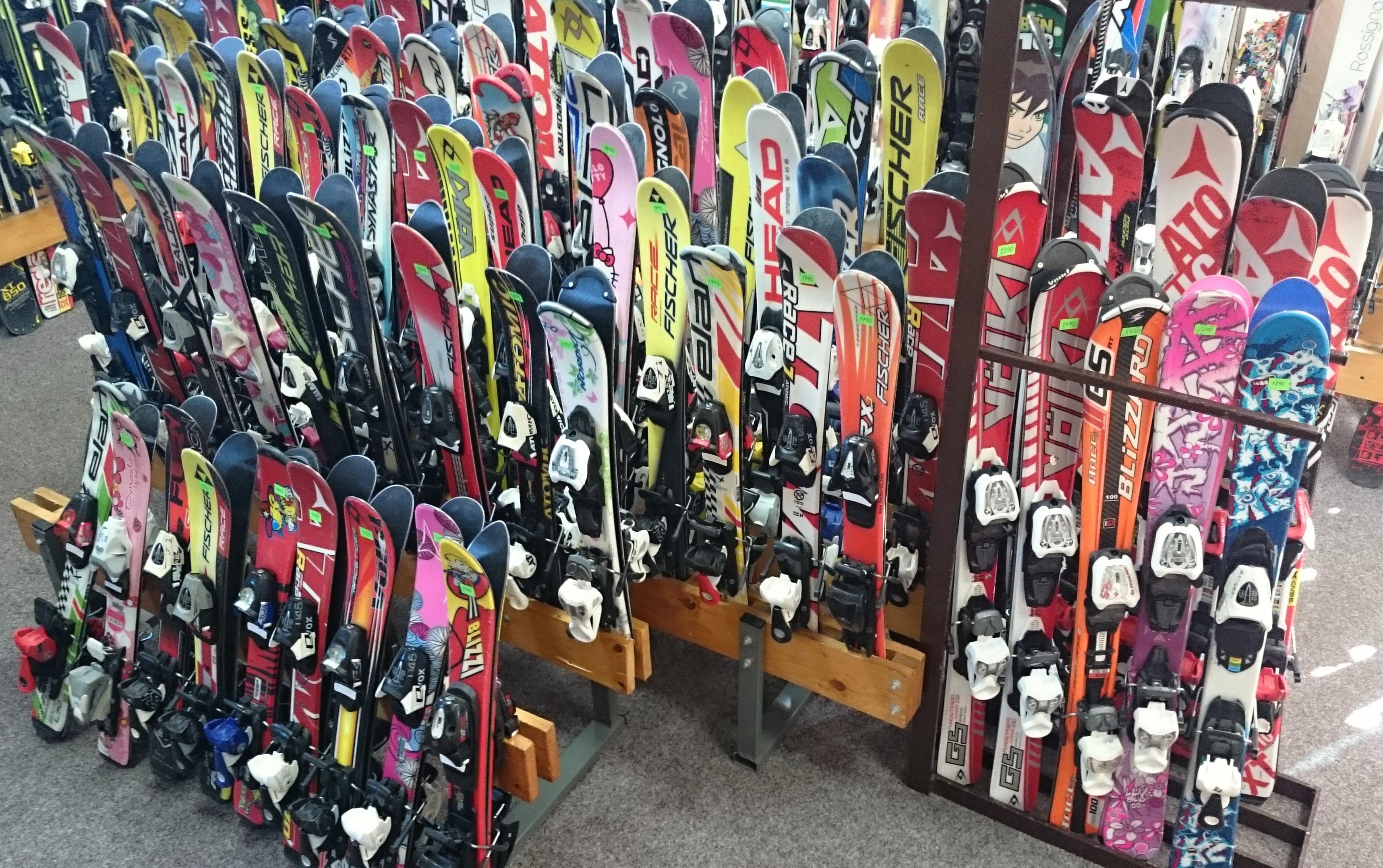 dětské lyže 67 - 100 mix 2015